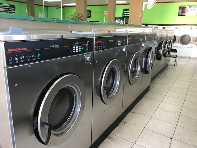 front load, washers, laundromat